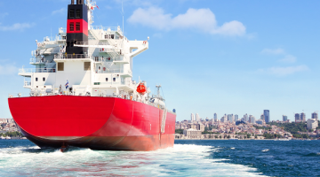 Ship entering Emission Control Area (ECA) with the new sulfur regulations in place and uptaken technology to be in compliance